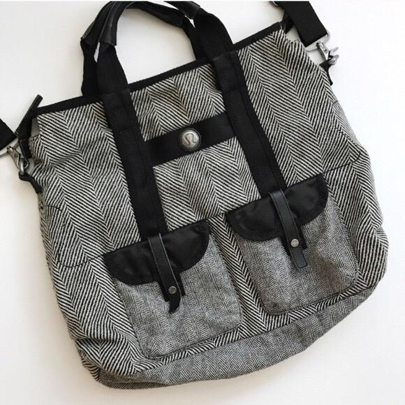 Lululemon Lucky Tote Herringbone Bag